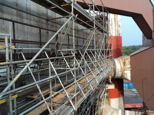 Industrial access scaffolding