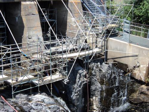 Repairs to concrete dam
